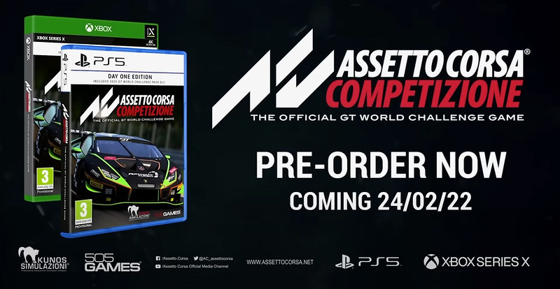 Assetto Corsa Competizione for the PlayStation 5 and Xbox Series X|S next-Gen consoles