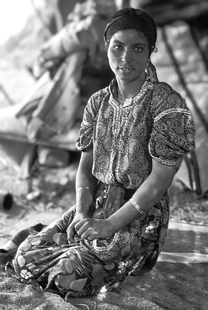 Berber lady in High Atlas (Morocco)