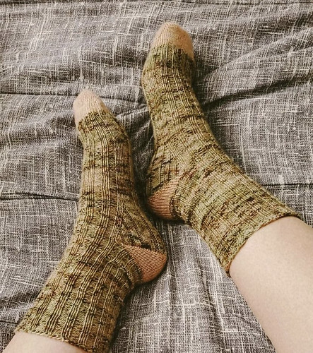 Michelina (Diane's daughter too) finished a pair of DRK Everyday Socks by Andrea Mowry.
