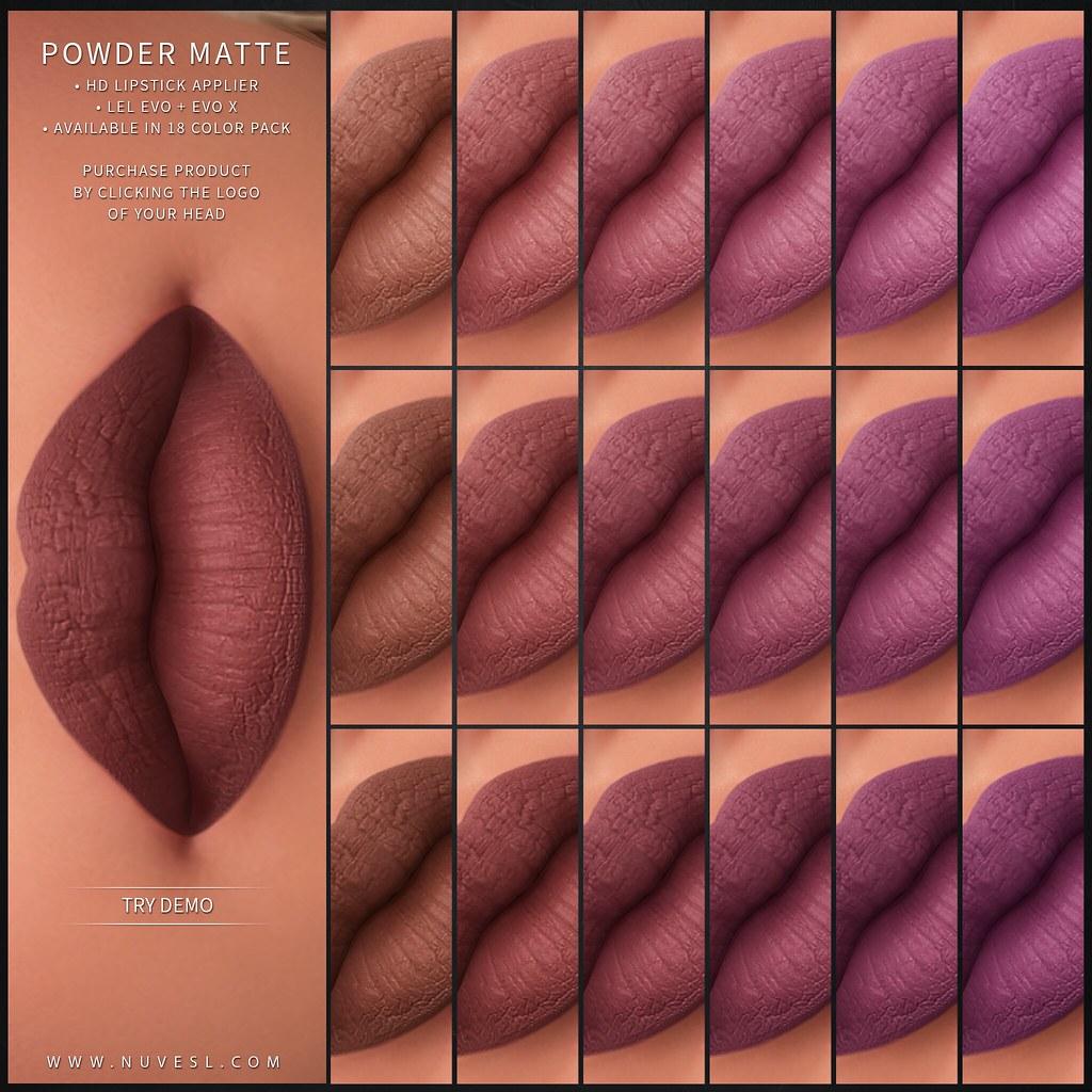 Powder matte lipstick 99L$ SALE