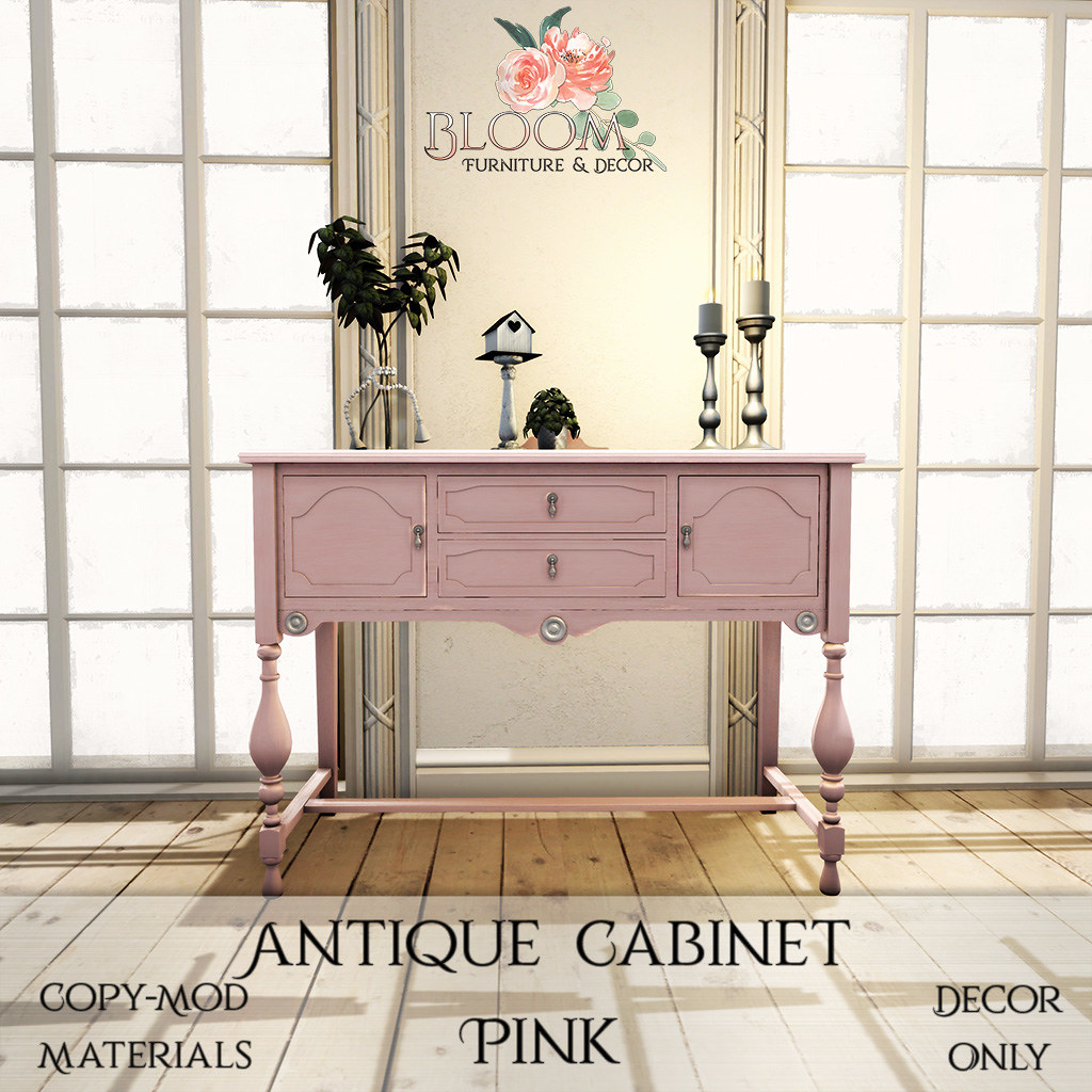 Bloom! – Antique Cabinet PinkAD