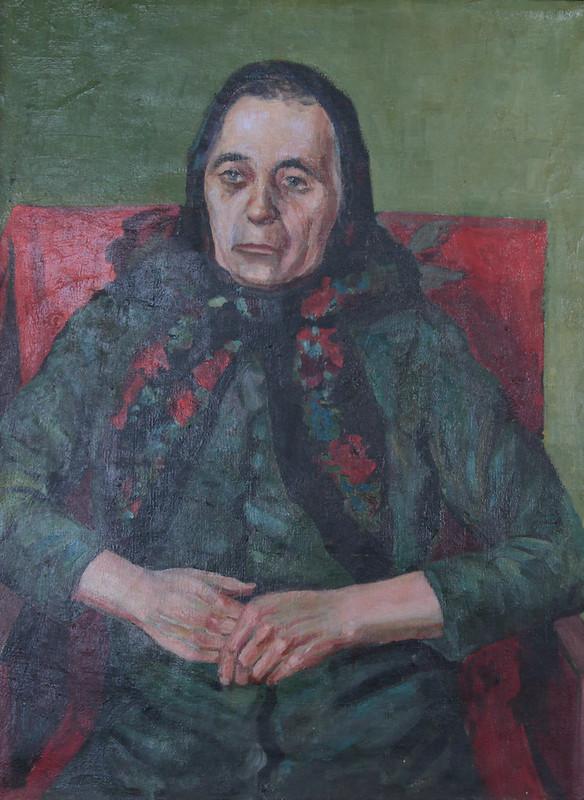 Сергій Латанський «Портрет матері», полотно олія