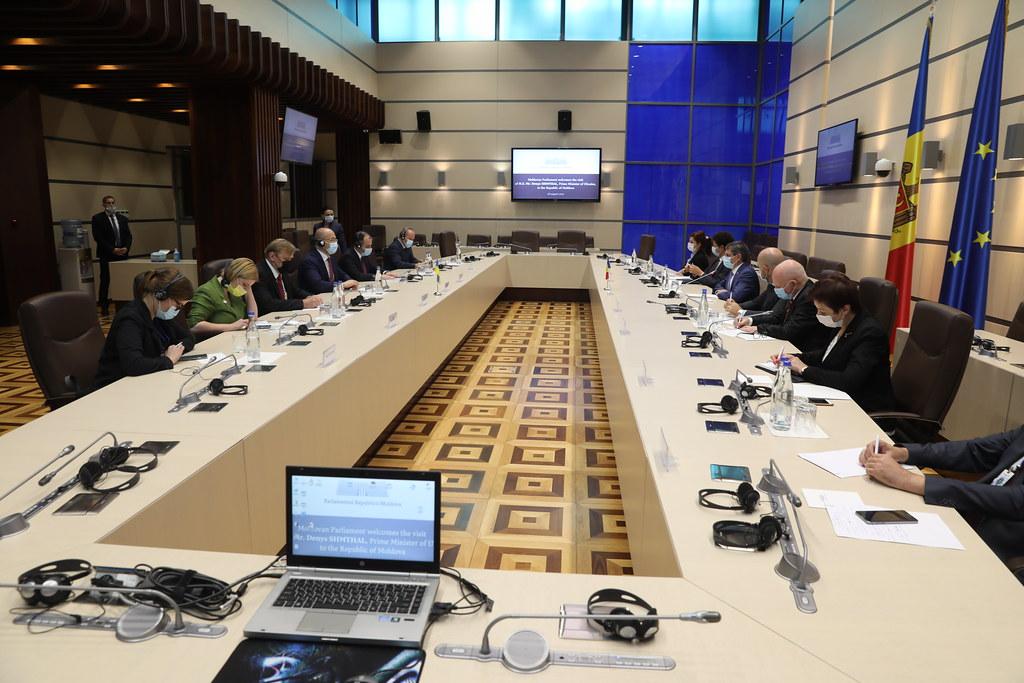 28.08.2021 Întrevedere Igor Grosu cu Denys Shmyhal, Prim-ministrul Ucrainei