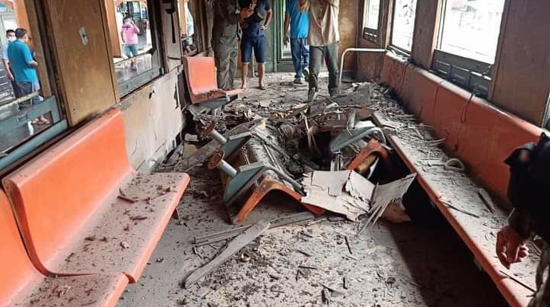 เกิดเหตุระเบิดรถไฟก่อนถึงสถานีตันหยงมัส จ.นราธิวาส