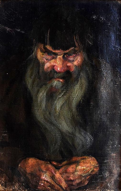 Володимир Кузнєцов «Голова старого» (етюд до картини «Божі люди»), полотно, олія, 1917 р.