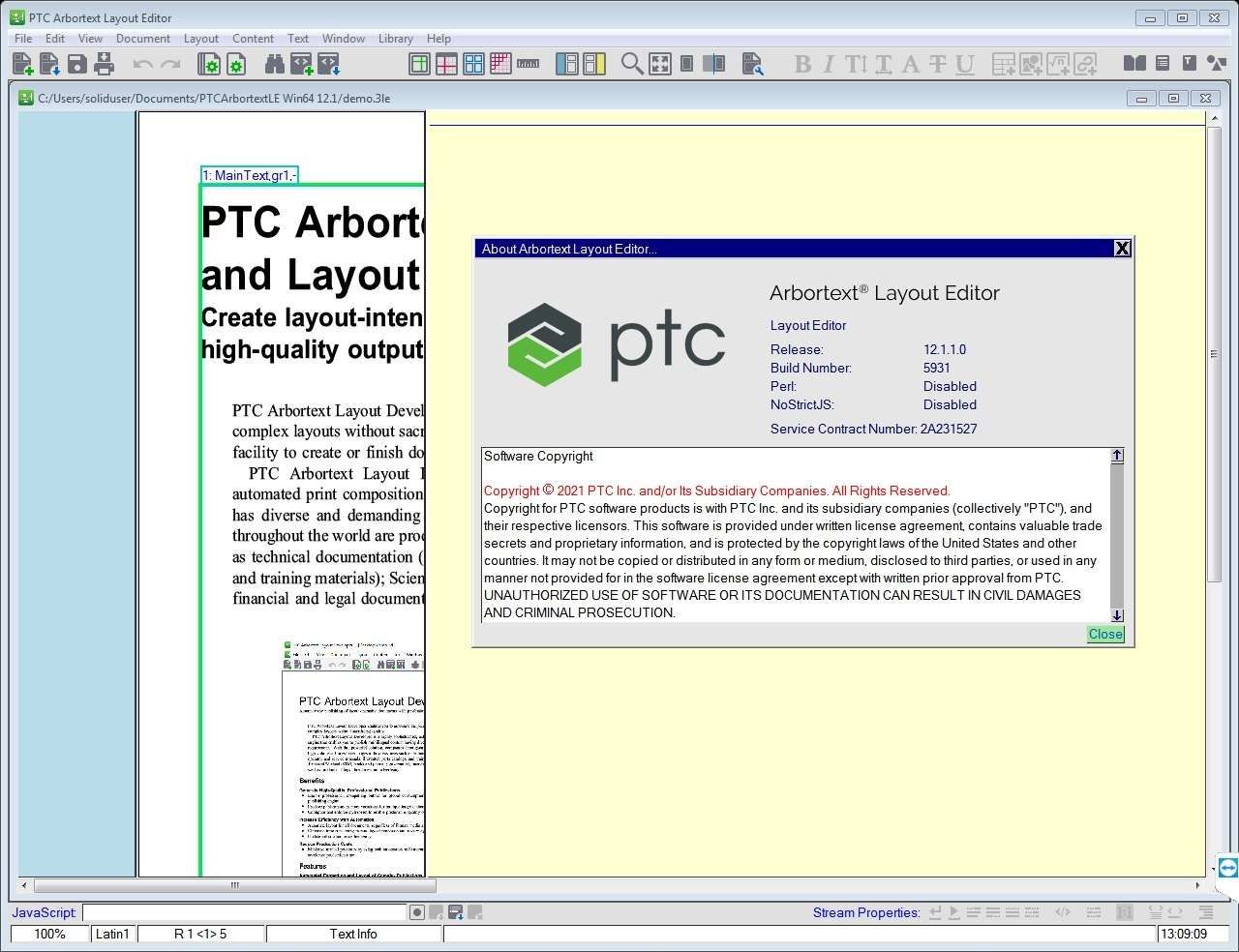 Working with PTC Arbortext Layout Editor 12.1.1.0 full