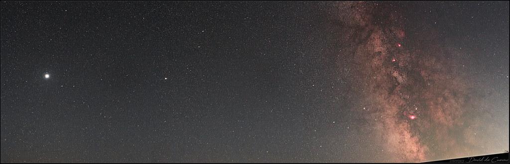 20210828_Pano_Voie Lactée Jupiter Saturne