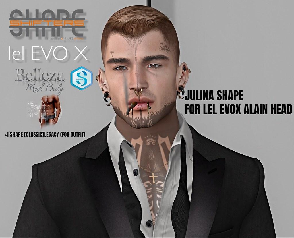 [SHAPEshifters] JULINA SHAPE FOR LELEVOX ALAIN HEAD V3.1