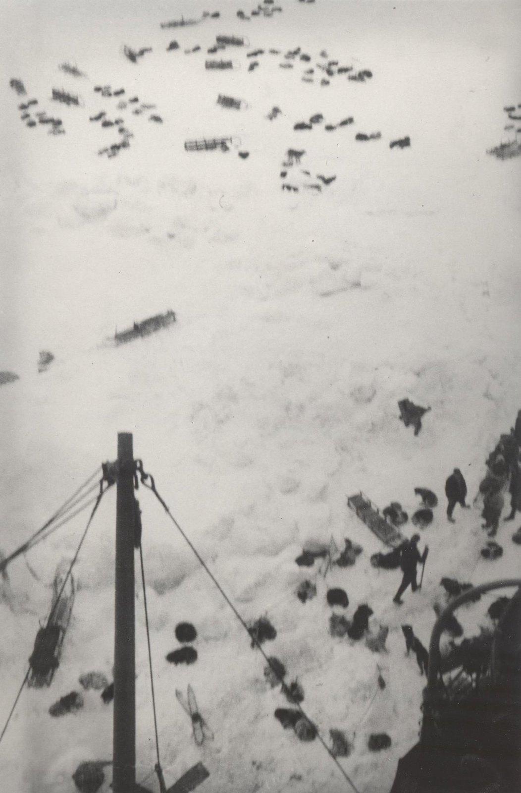 1934. Экспедиция по спасению челюскинцев. Бухта Лаврентия