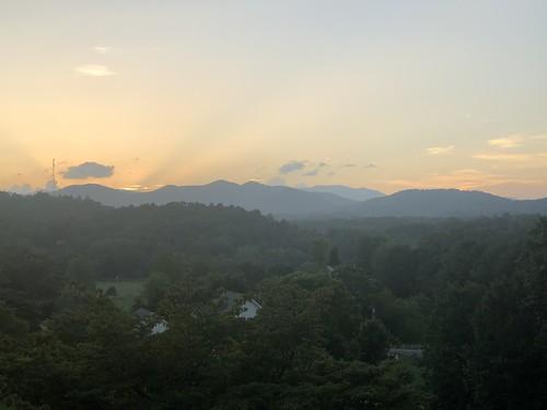 northcarolina maconcounty aug2021 franklin tree sky sunset scenery mountains cloud