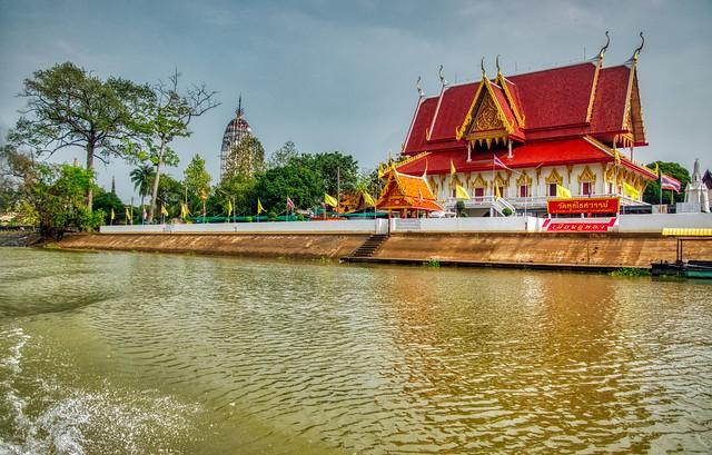 Wat Phutthaisawan by the Chao Phraya river in Ayutthaya, Thailand