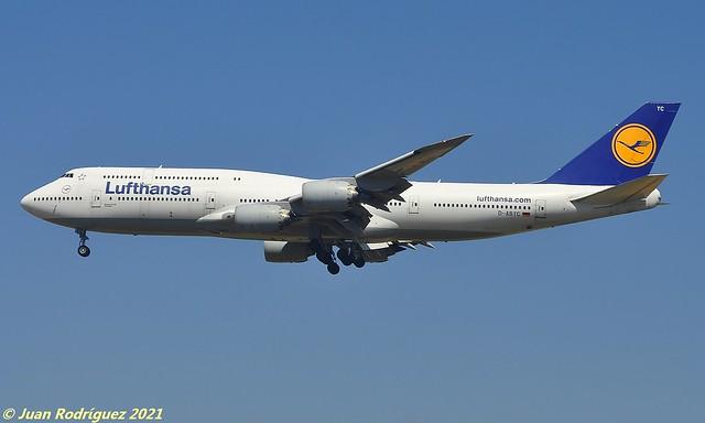 D-ABYC - Lufthansa - Boeing 747-830 - PMI/LEPA