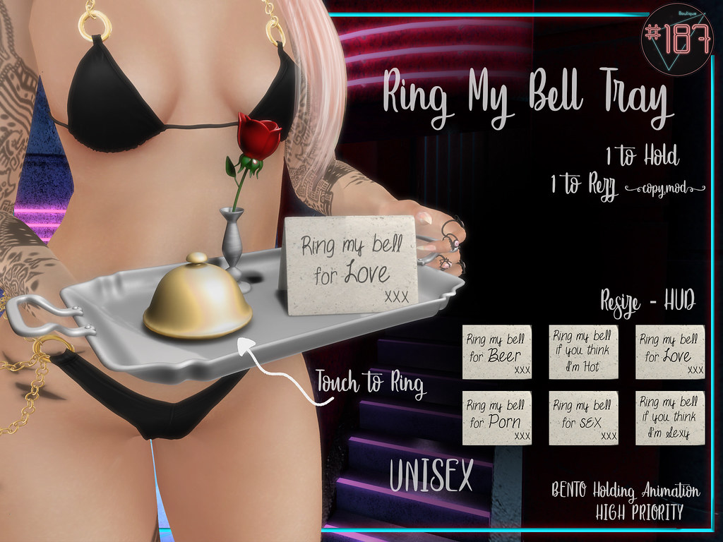 #187# Ring My Bell Tray Affiche