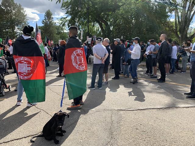 Afghan Community Rally in Edmonton