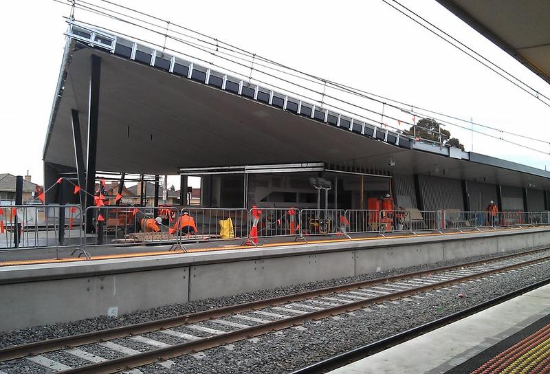 Thomastown station under construction, August 2011