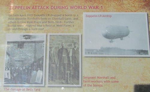 Information Board, Information Board, Zeppelin Attack on Cramlington, Norhumberland