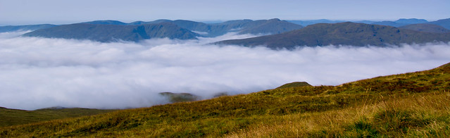 Heading up with a cloud inversion over the Luss hills