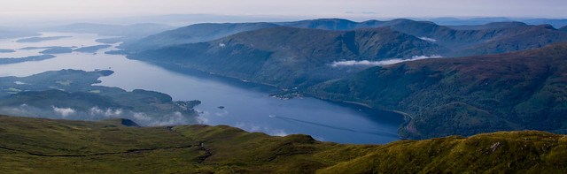 Looking down on Inverbeg and Beinn Dubh
