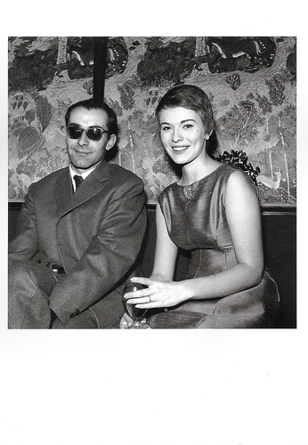 Jean-Luc Godard and Jean Seberg, after the shooting of A bout de souffle
