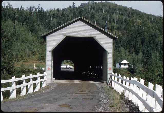 Covered bridge, Routhierville, Quebec, Canada, 1961