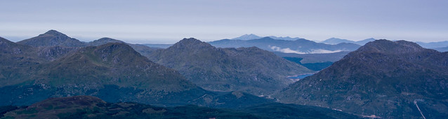 Ben Cruachan (twin peaks) visible on far horizon