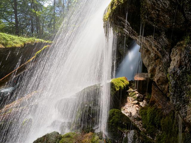 Under the Waterfall - Schrainbach Waterfall, Lake Koeningssee, Bavaria  (explored)