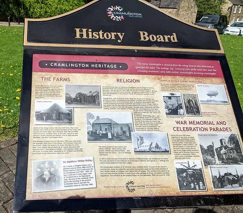 Information Board, Cramlington, Northumberland