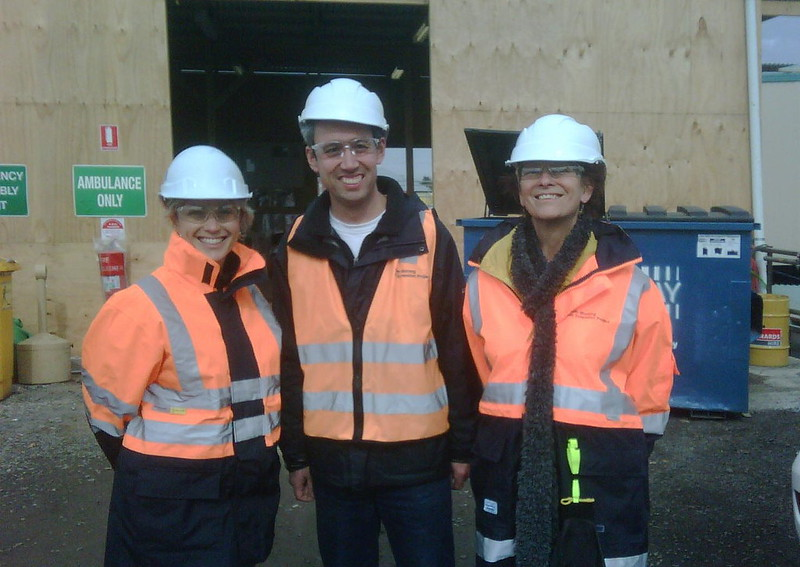 Looking around the South Morang rail project with a couple of friends, August 2011