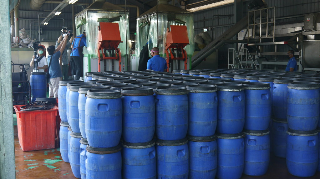 20210828新竹市高效廚餘處理廠。高效廚餘處理廠處理量能為每日12公噸。黃思敏攝