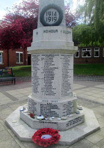 War Memorial, Cramlington, Part Dedication