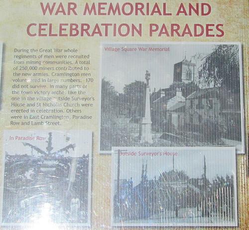 Cramlington War Memorial Information Board