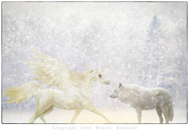Le Loup et la Licorne - pour Chloé