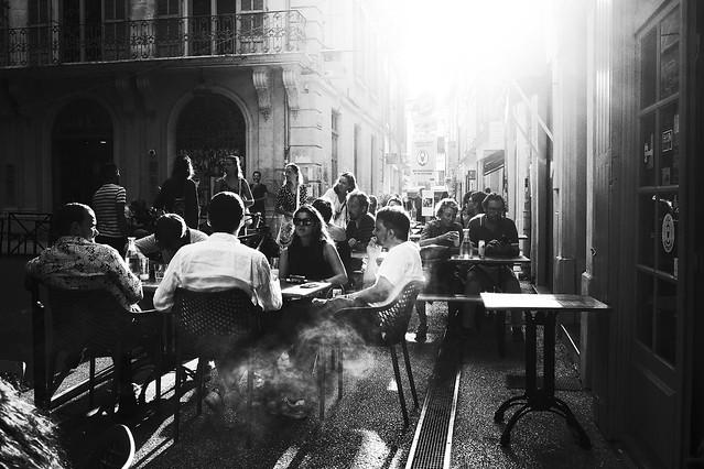 Arles à contre-jour.