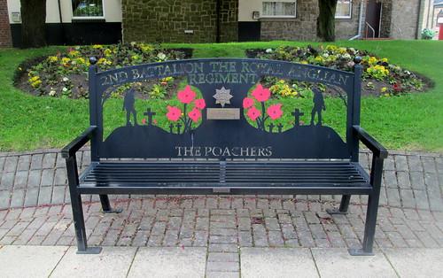 Cramlington, Northumberland, War Memorial Bench