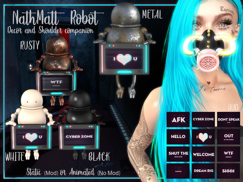 #187# NathMatt Robots Affiche