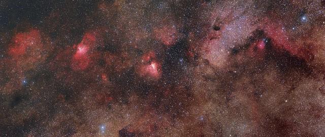 Messier 16, Messier 17, Messier 24