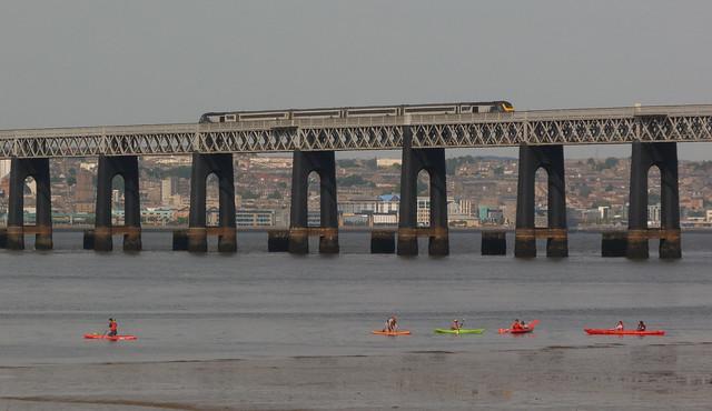 ScotRail HST crossing the Tay Bridge