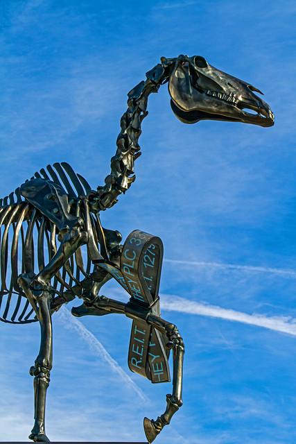 Fourth Plinth Sculpture (2015) Gift Horse by Hans Haacke (Trafalgar Square - London) Canon EOS 7D & EF 70-300mm f4-5.6 L Zoom