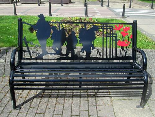 War Memorial Bench, Cramlington, Northumberland