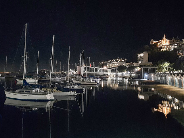 Wellington Harbour by night