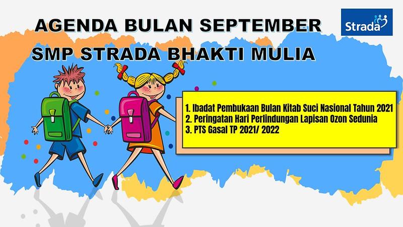 AGENDA BULAN SEPTEMBER TAHUN 2021 SMP STRADA BHAKTI MULIA