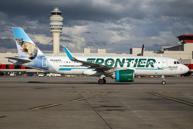 N365FR - Airbus A320-251N - Frontier - KATL - Aug 2021