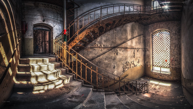forgotten staircase - back at work, it's Monday