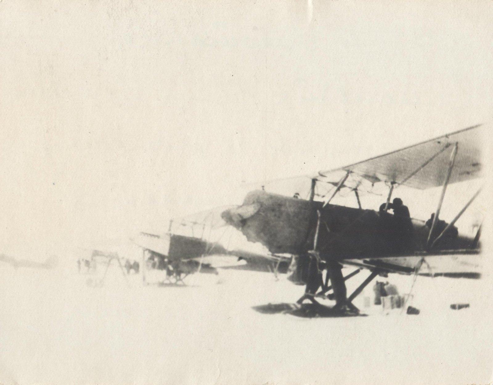 1934. Экспедиция по спасению челюскинцев. Самолеты звена Каманина Н.П.