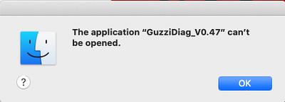 GuzziDiag_V0.47 cannot be opened