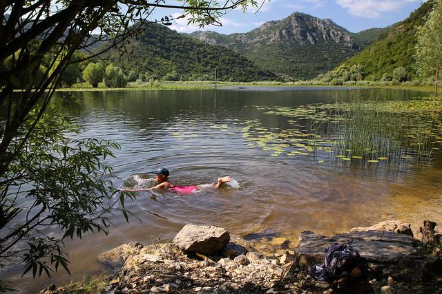 Ideal swimming place at Lake Skadar National Park