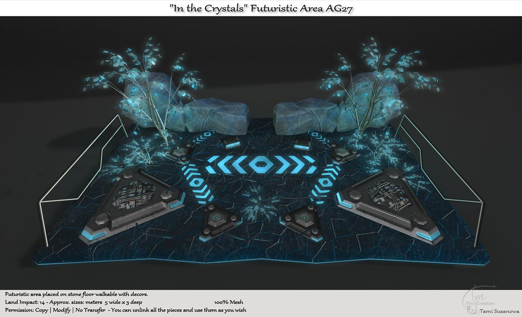 """.:Tm:.Creation """"In the Crystals"""" Futuristic Area AG27"""