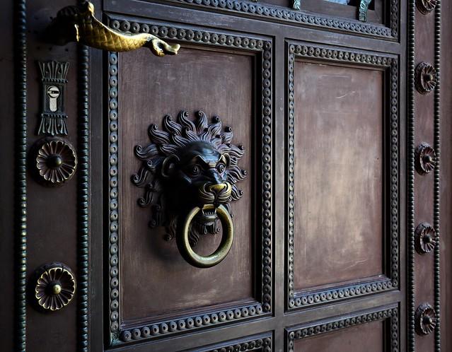 Lion Door Knocker / Cathedral Entrance