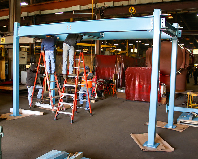 Cable Tray Support Rack Fabricated for a Groundwater Remediation