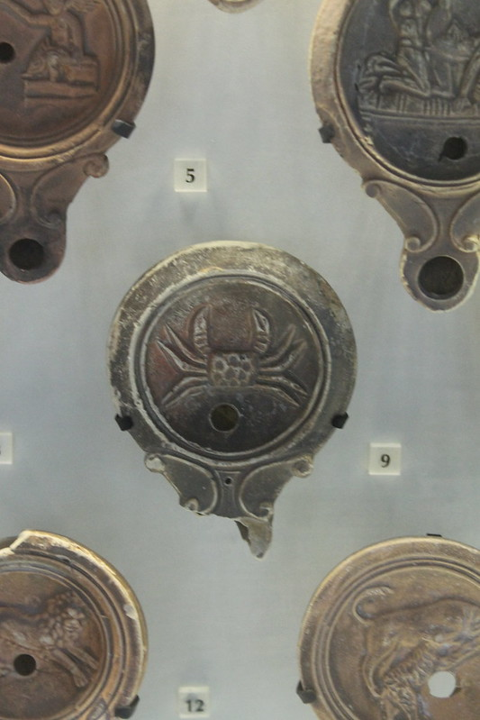 Oil Lamp with Crab